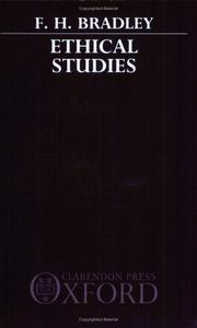 Cover of: Ethical studies