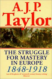 Cover of: The Struggle for Mastery in Europe | A. J. P. Taylor