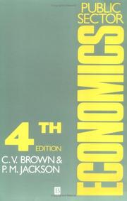 Cover of: Public sector economics | C. V. Brown