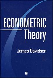 Cover of: Econometric Theory