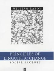 Cover of: Social Factors (Language in Society)