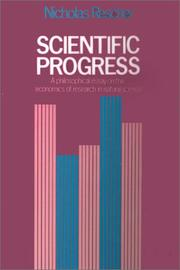 Cover of: Scientific progress | Rescher, Nicholas.