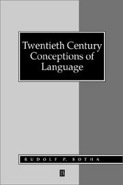 Cover of: Twentieth century conceptions of language