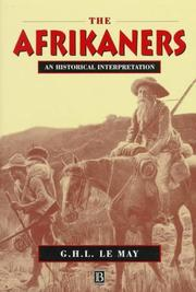 Cover of: Afrikaners | G. H. L. Le May