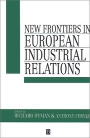 Cover of: New frontiers in European industrial relations |