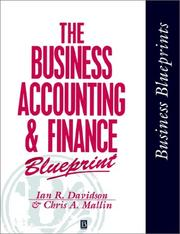 Cover of: business accounting and finance blueprint | Ian R. Davidson