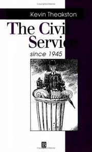 Cover of: The civil service since 1945
