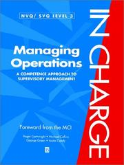 Cover of: Managing Operations: A Competence Approach to Supervisory Management (In Charge)