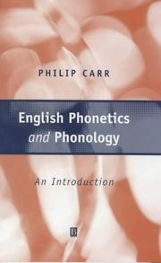 Cover of: English phonetics and phonology