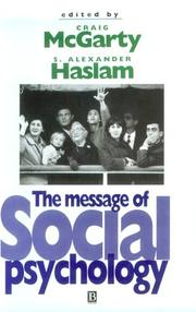 Cover of: The message of social psychology