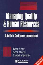 Cover of: Managing quality and human resources