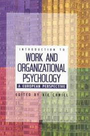 Cover of: Introduction to Work and Organizational Psychology