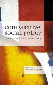 Cover of: Comparative Social Policy | Jochen Clasen