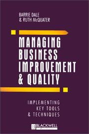 Cover of: Managing business improvement and quality
