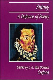 Cover of: A Defence of Poetry