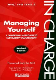 Cover of: Managing Yourself: A Competence Approach to Supervisory Management (In Charge)