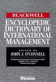 Cover of: The Encyclopedic Dictionary of International Management