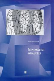 Cover of: Minimalist analysis