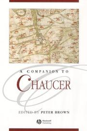 Cover of: A companion to Chaucer |
