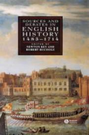 Cover of: Sources and debates in English history, 1485-1714 |