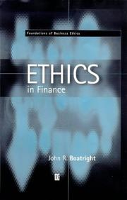 Cover of: Ethics in Finance (Fundations of Business Ethics, 1)