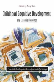 Cover of: Childhood Cognitive Development | Kang Lee