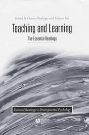 Cover of: Teaching and Learning