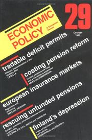 Cover of: A Economic Policy (Ecop) | David Begg