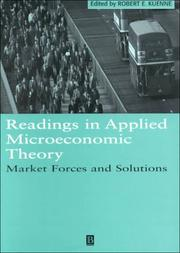 Cover of: Readings in Applied Microeconomic Theory | Robert Kuenne