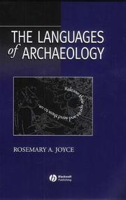 Cover of: languages of archaeology | Rosemary A. Joyce
