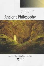 Cover of: The Blackwell Guide to Ancient Philosophy (Blackwell Philosophy Guides) | Christopher Shields