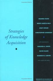 Cover of: Strategies of Knowledge Acquisition (Monographs of the Society for Research in Child Development)