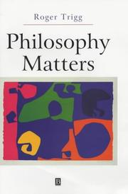 Cover of: Philosophy Matters