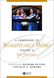 Cover of: A Companion to Shakespeare's Works | Jean Howard