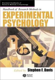 Cover of: Handbook of Research Methods in Experimental Psychology