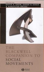 Cover of: The Blackwell companion to social movements |