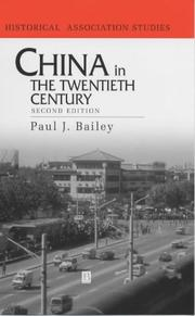 Cover of: China in the Twentieth Century (Historical Association Studies)
