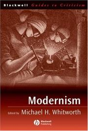 Cover of: Modernism | Michael H. Whitworth