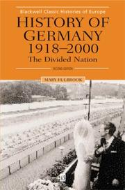 Cover of: History of Germany, 1918-1990 | Mary Fulbrook