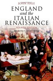 Cover of: England and the Italian Renaissance