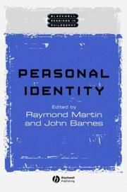 Cover of: Personal Identity