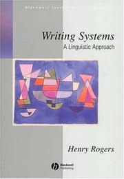 Cover of: Writing systems