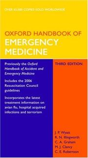 Cover of: Oxford Handbook of Emergency Medicine (Oxford Handbooks Series) | Jonathan Wyatt