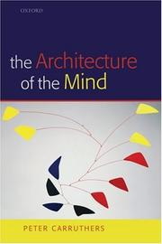Cover of: The Architecture of the Mind
