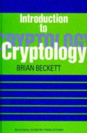 Cover of: Introduction to cryptology | Brian Beckett