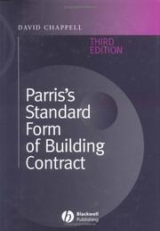 Cover of: Parris's Standard Form of Building Contract: Jct 98