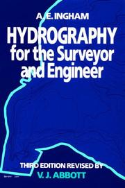 Cover of: Hydrography for the surveyor and engineer | A. E. Ingham