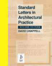 Cover of: Standard letters in architectural practice