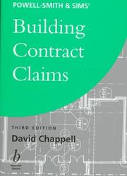 Cover of: Powell-Smith & Sims' building contract claims