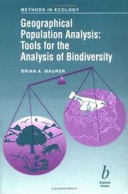 Cover of: Geographical population analysis | Brian A. Maurer